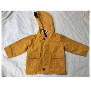 Carters Yellow Rain Jacket size 12m